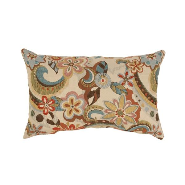 Floral Splash Rectangular Throw Pillow