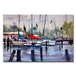Ryan Radke 'Menominee Marina' Canvas Art
