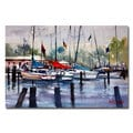 Ryan Radke 'Menominee Marina' Canvas Art