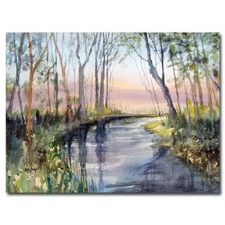 Ryan Radke 'River Reflections' Canvas Art