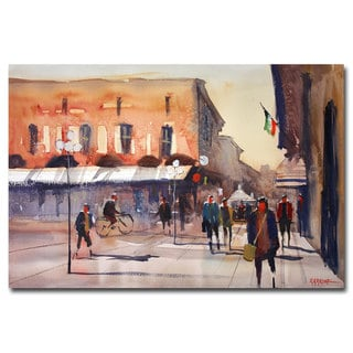 Ryan Radke 'Shopping in Italy' Canvas Art