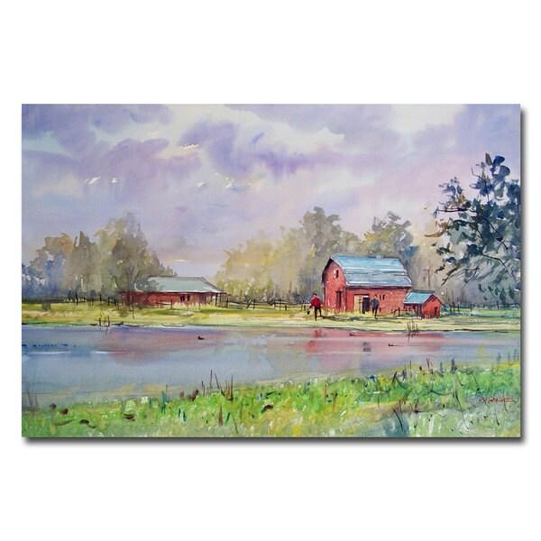 Ryan Radke 'View from the Millpond' Canvas Art