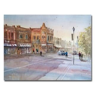 Ryan Radke 'Waupaca - Main Street' Canvas Art