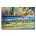 Ryan Radke ' Wautoma Mill Pond' Canvas Art