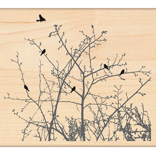 "Penny Black Rubber Stamp 4""X4.5""-Winter Ledge"