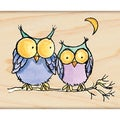 Penny Black Rubber 'Moonlight Owls' Stamp