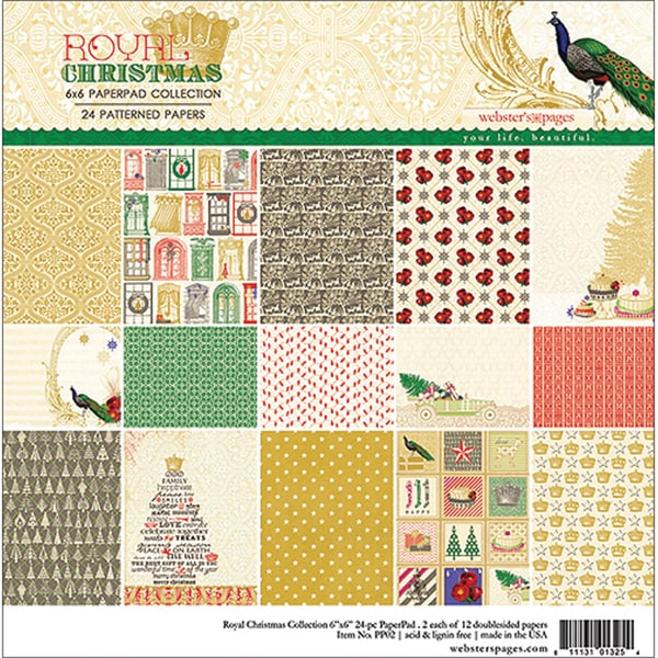 Royal Christmas Collection Pad 6X6IN 24 Sheets