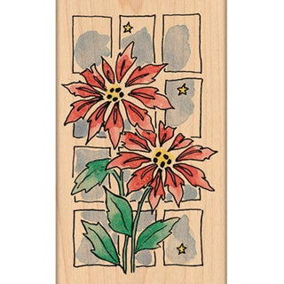 "Penny Black Mounted Rubber Stamp 3.5""X4.5""-Christmas Window"