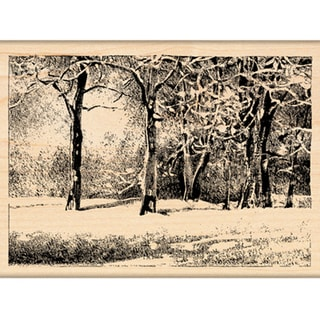 "Penny Black Mounted Rubber Stamp 3""X4.25""-Snowy Park"