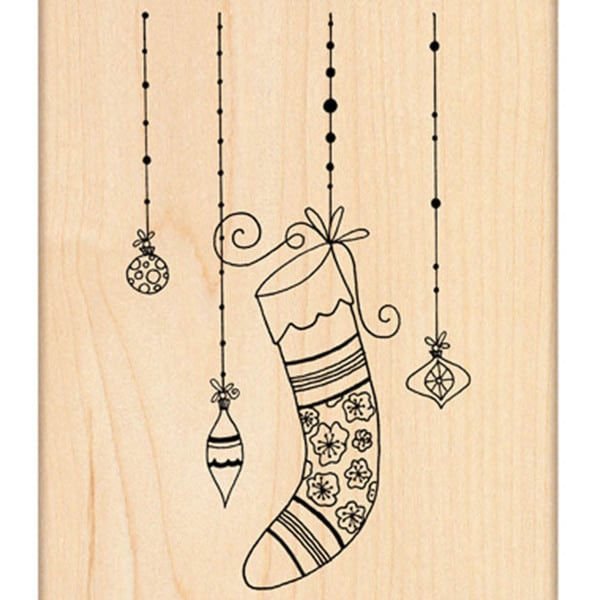 "Penny Black Mounted Rubber Stamp 2.75""X4.25""-Winter Glitter"