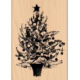 "Penny Black Mounted Rubber Stamp 3.5""X5""-Festive Tree"