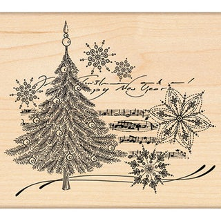 "Penny Black Rubber Stamp 4""X4.5""-Christmas Music"