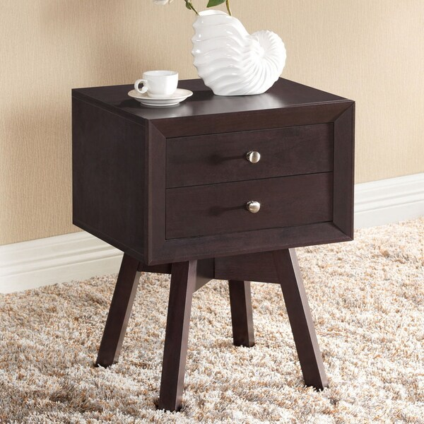 Warwick Brown Modern Nightstand