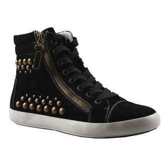 Refresh by Beston Women's 'Melba' High Top Studded Sneakers