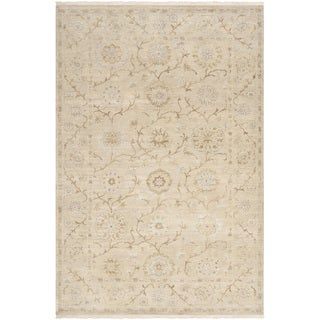 Hand-knotted Guelmim Beige Wool Rug (5'6 x 8'6)