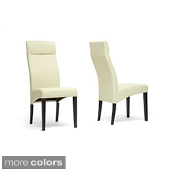 Deborah Beige Linen Modern Dining Chairs (Set of 2)