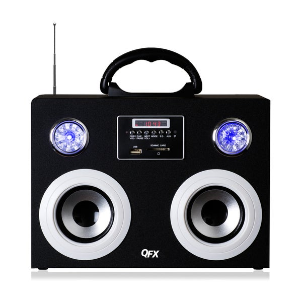 QFX CS-215 2.0 Speaker System - 10 W RMS - Silver