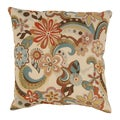 Floral Splash 18-Inch Throw Pillow