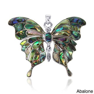 Gorgeous Big Butterfly Abalone Shell .925 Silver Pendant (Thailand)