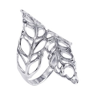 Beautiful Cut Out Leaves Wrap Silver Ring (Thailand)