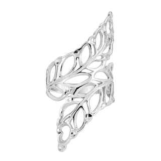 Handmade Beautiful Cut Out Leaves Wrap Silver Ring (Thailand)