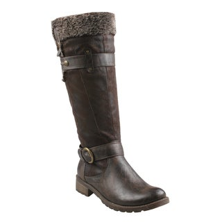 Refresh Women's 'Tatum' Faux Fur Riding Boots