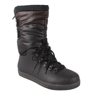 Pinky by Beston Women's 'Eliza' Black Mid-Calf Boots