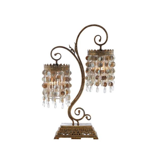 Seashell Frills Twin Table Lamp