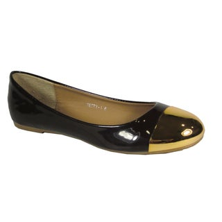 Betani Women's 'Betty' Gold-cap Ballet Flats