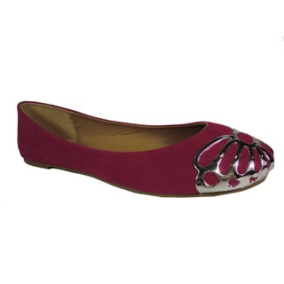 Betani by Beston Women's 'Betty' Fuchsia Metal-cap Ballet Flats