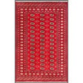 Pakistani Hand-Knotted Bokhara Red/Ivory Indoor Wool Rug (5'1 x 7'10)