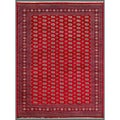 Pakistani Hand-knotted Bokhara Red/ Ivory Wool Rug (9' x 11'9)