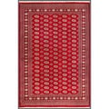 Pakistani Hand-knotted Bokhara Red/ Ivory Wool Rug (6'8 x 9'6)