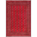 Pakistani Hand-knotted Bokhara Red/ Ivory Wool Rug (6'8 x 9'8)