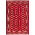 Pakistani Hand-knotted Bokhara Red/ Ivory Wool Rug (5'6 x 8'1)