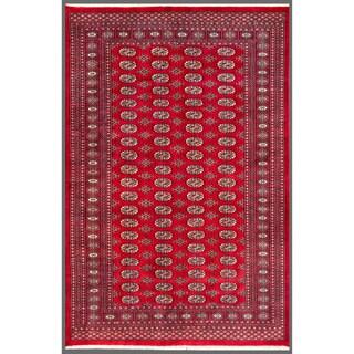 Herat Oriental Pakistani Hand-knotted Bokhara Red/ Ivory Wool Rug (5'6 x 8'2)