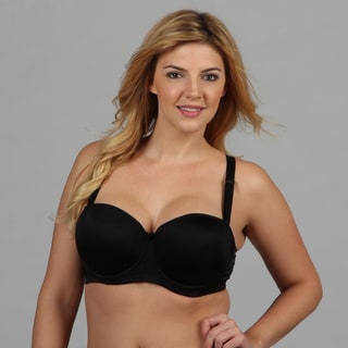 24/7 Frenzy Women's Black Microfiber Molded Bra (DD Cup)