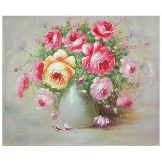 Hand-Painted Peonies Boutonniere Canvas Art (China)