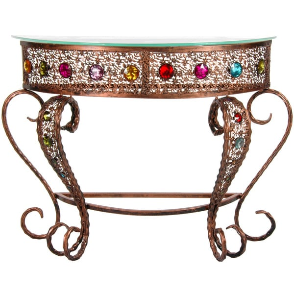 Bejeweled Crescent Side Table (China)