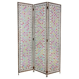 Fleur de Lis 5.5-foot Beaded Monarchy Divider Screen (China)