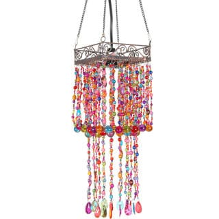Draped Multicolor Beads Hanging Lantern (China)