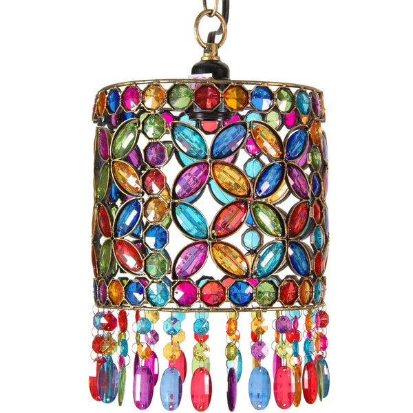 Four Petal Beaded Ceiling Lantern (China)