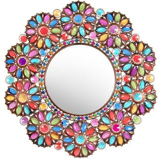 Flowers in Beads Mirror (China)