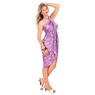 Handmade Assorted Purple Silk Sarong (Indonesia)