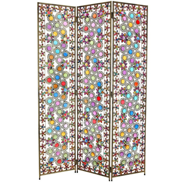Flowers and Beads 5.5-foot Room Divider (China)