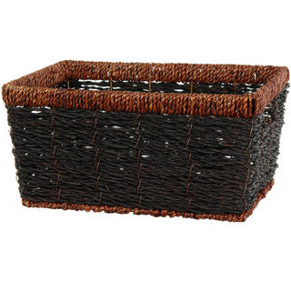 Hand Woven Rush Grass Shelf Basket Set (China)