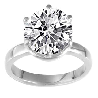 NEXTE Jewelry Sterling Silver Cubic Zirconia Solitaire Ring