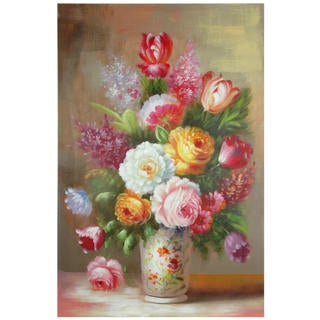 Hand Painted Floral Bouquet Still Life (China)