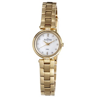 Skagen Women's Goldtone Steel Crystal Watch