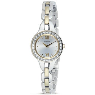 Seiko Women's Goldtone Stainless Steel Crystal Watch